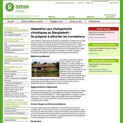 Adaptation aux changements climatiques au Bangladesh :