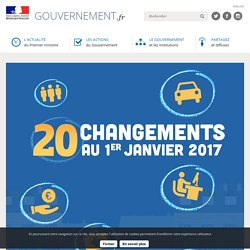 20 changements qui vous concernent au 1er janvier 2017