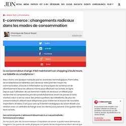 E-commerce: changements radicaux dans les modes de consommation