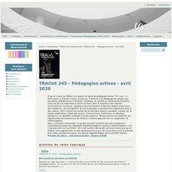 ChanGements pour l'égalité - TRACeS 245 - Pédagogies actives - avril 2020