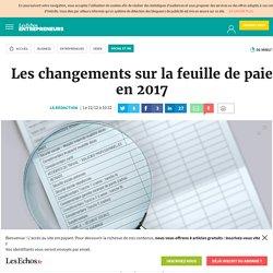 Les changements sur la feuille de paie en 2017, Social et RH