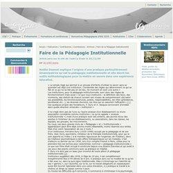 ChanGements pour l'égalité - Faire de la Pédagogie Institutionnelle