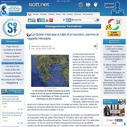 479 avant J.-C : Grèce et tsunami : Hérodote