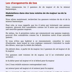 Changements de tons