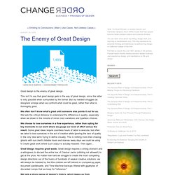 ChangeOrder: The Enemy of Great Design