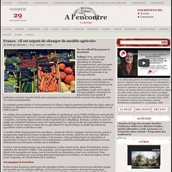 France. «Il est urgent de changer de modèle agricole»