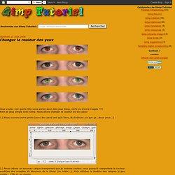 Changer la couleur des yeux