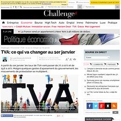 TVA: ce qui va changer au 1er janvier