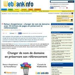 Changer le nom de domaine d'un gros site : impact référencement