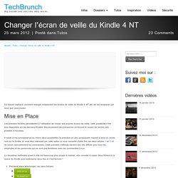 Changer l'écran de veille du Kindle 4 NT