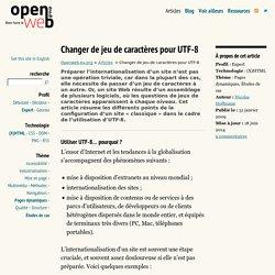 Changer de jeu de caractères pour UTF-8
