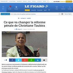 Ce que va changer la réforme pénale de Christiane Taubira