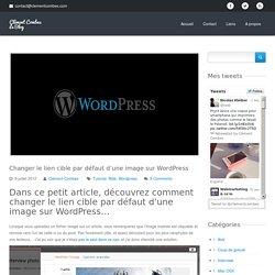 Changer le lien cible par défaut d'une image sur Wordpress