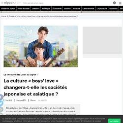 La culture « boys' love » changera-t-elle les sociétés japonaise et asiatique ?