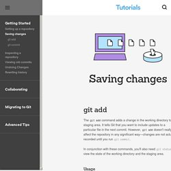Saving changes - git-commit