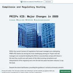 PRIIPs KID: Major Changes in 2020