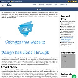 Changes that Web Design Company in Dubai Has Gone Through
