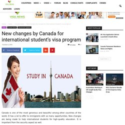 New changes by Canada for international student's visa program