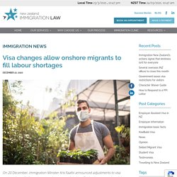 Visa changes allow onshore migrants to fill labour shortages