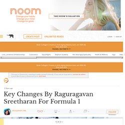 Key Changes By Raguragavan Sreetharan For Formula 1