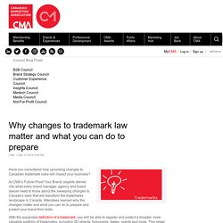 Why changes to trademark law matter and what you can do to prepare