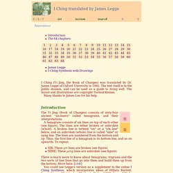 I Ching (Yi Jing, the Book of Changes) in James Legge's translation