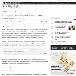 Changes to Washington Post comments