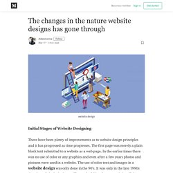 The changes in the nature website designs has gone through