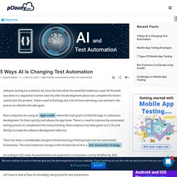 5 Ways AI is Changing Test Automation - pCloudy