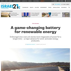 A game-changing battery for renewable energy