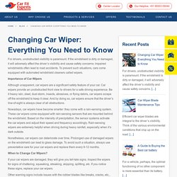 Changing Car Wipers · Carfit