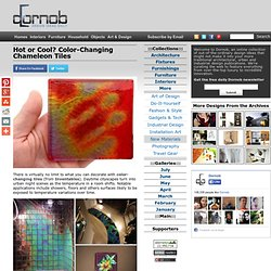 Hot or Cool? Color-Changing Chameleon Tiles | Designs &Ideas on Dornob - StumbleUpon