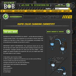 Rapid Color Changing Chemistry! - ScienceBob.com