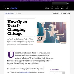 How Open Data Is Changing Chicago - A Q&A with Chicago's chief data officer about the power of big data.