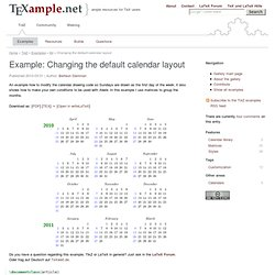 Changing the default calendar layout