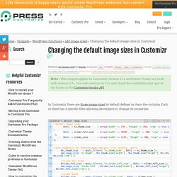 Changing the default image sizes in Customizr - Press Customizr