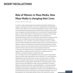 Role of Women in Mass Media, How Mass Media is changing their Lives