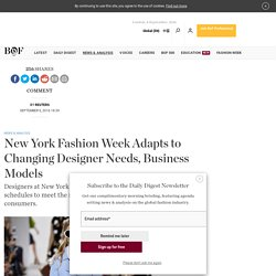 New York Fashion Week Adapts to Changing Designer Needs, Business Models