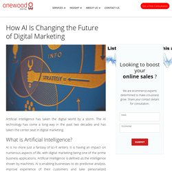 How AI Is Changing the Future of Digital Marketing -