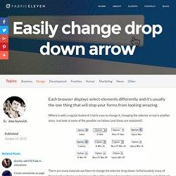 Changing Drop Down selector Arrow