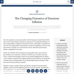 The Changing Dynamics of Eurozone Inflation