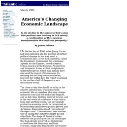 America's Changing Economic Landscape - 85.03