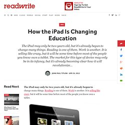 How the iPad Is Changing Education