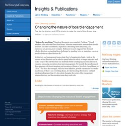Changing the nature of board engagement