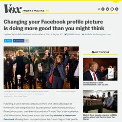 Changing your Facebook profile picture is doing more good than you might think