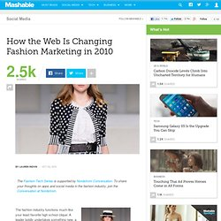 How the Web Is Changing Fashion Marketing in 2010