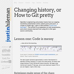 Changing history, or How to Git pretty — justin hileman dot info