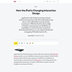 How the iPad is Changing Interaction Design - ReadWriteStart