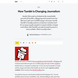How Tumblr is Changing Journalism