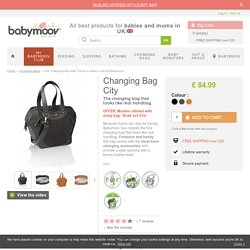 City Changing Bag with Trendy Leather Look by Babymoov